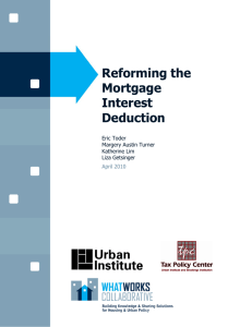 Reforming the Mortgage Interest Deduction