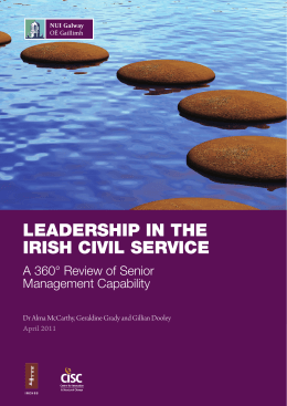 Leadership in the irish CiviL serviCe A 360° Review of Senior Management Capability