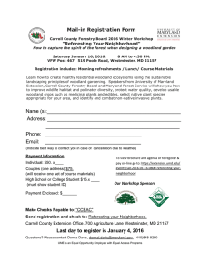 "Mail-in Registration Form ""Reforesting Your Neighborhood"""