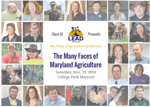 The Many Faces of Maryland Agriculture Class IX Presents