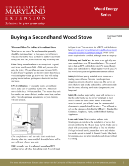 Buying a Secondhand Wood Stove Wood Energy Series