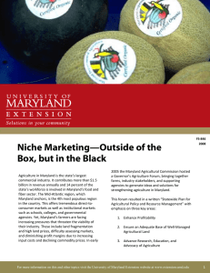 Niche Marketing—Outside of the Box, but in the Black