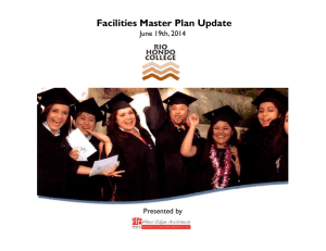Facilities Master Plan Update June 19th, 2014 Presented by