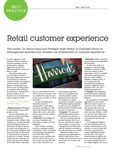 Retail customer experience Best Practice