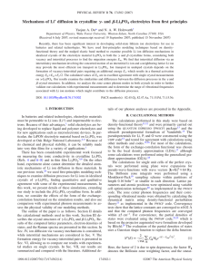 ␥ ␤ Mechanisms of Li diffusion in crystalline