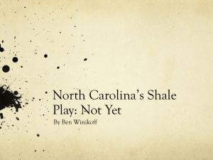 North Carolina's Shale Play: Not Yet By Ben Winikoff
