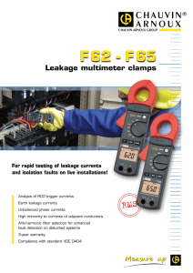 F 62  -  F 65 RMS Leakage multimeter clamps