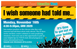 I wish someone had told me International Education Week