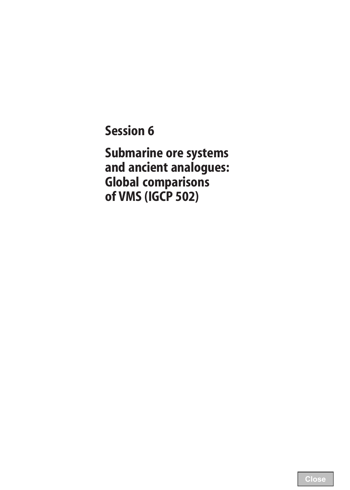 Session 6 submarine ore systems and ancient analogues global session 6 submarine ore systems and ancient analogues global comparisons publicscrutiny Image collections