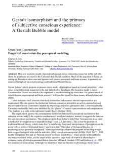 Gestalt isomorphism and the primacy of subjective conscious experience: Open Peer Commentary