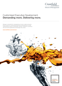 Customised Executive Development. Demanding more. Delivering more.
