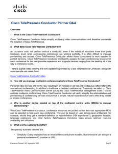 Cisco TelePresence Conductor Partner Q&A  Overview