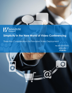 Simplicity in the New World of Video Conferencing November 2015