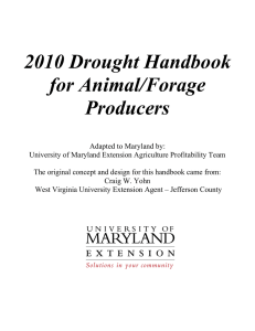 2010 Drought Handbook for Animal/Forage Producers
