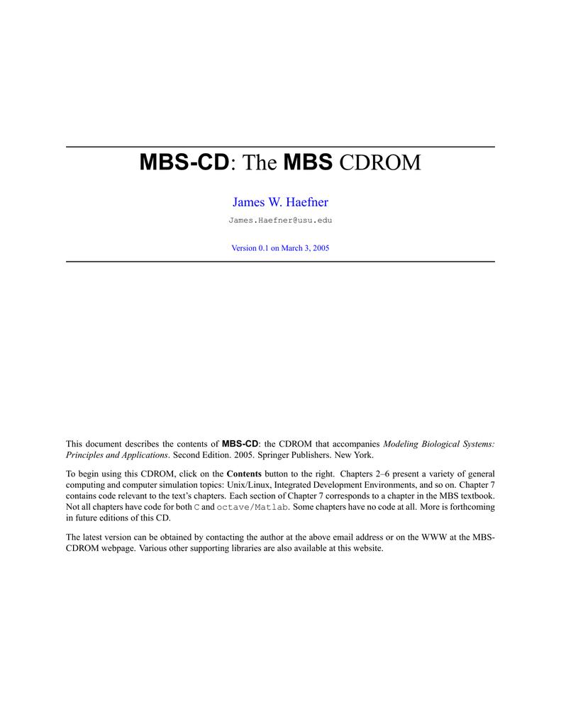MBS-CD MBS : The CDROM