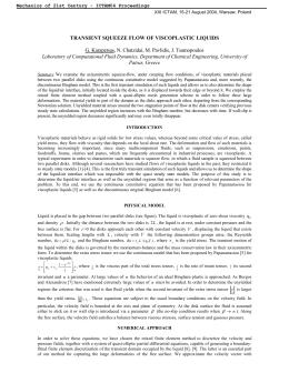 G. Karapetsas, N. Chatzidai, M. Pavlidis, J. Tsamopoulos