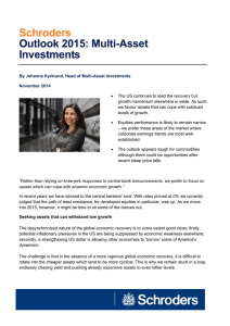 Schroders Outlook 2015: Multi-Asset Investments