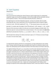 27.  Euler's Equations Introduction