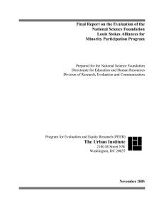 Final Report on the Evaluation of the National Science Foundation