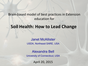 Soil Health: How to Lead Change education for Janet McAllister
