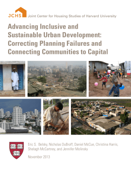 Advancing Inclusive and Sustainable Urban Development: Correcting Planning Failures and