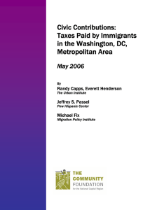 Civic Contributions: Taxes Paid by Immigrants in the Washington, DC,