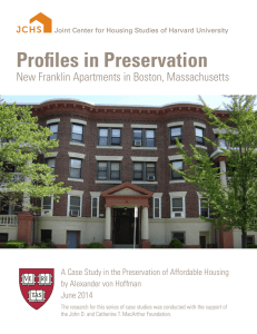 Profiles in Preservation New Franklin Apartments in Boston, Massachusetts