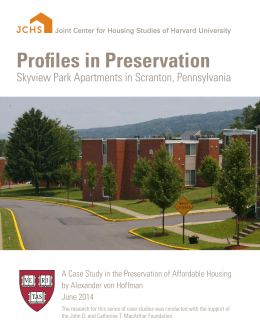 Profiles in Preservation Skyview Park Apartments in Scranton, Pennsylvania