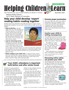 Help your child develop 'expert' reading habits reading together Promote proper punctuation