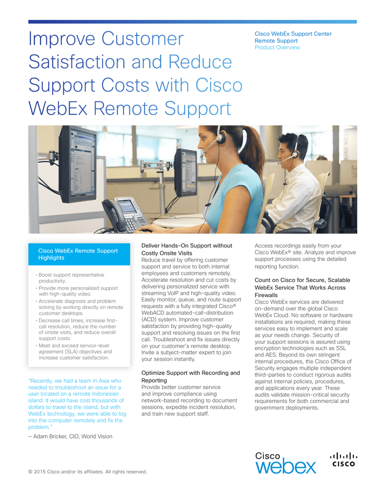 Improve Customer Satisfaction and Reduce Support Costs