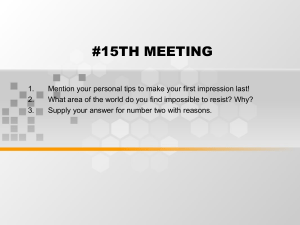 #15TH MEETING