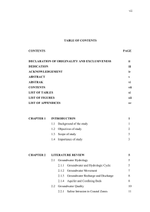 vii  TABLE OF CONTENTS CONTENTS