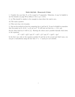 Math 346/646 - Homework 9 hints or P
