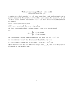 Written homework problem 3 - extra-credit Assigned 1/13 and due 1/19