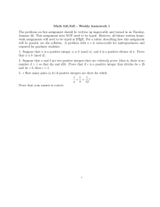 Math 345/645 - Weekly homework 1
