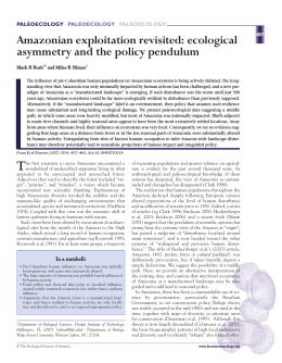 Amazonian exploitation revisited: ecological asymmetry and the policy pendulum T PALEOECOLOGY