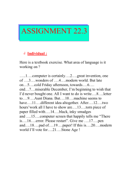 ASSIGNMENT 22.3