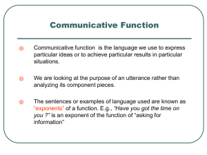 Communicative Function