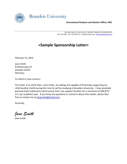 Sample financial self sponsor letter sample sponsorship letter thecheapjerseys Image collections