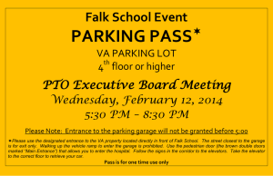 PARKING PASS  Falk School Event PTO Executive Board Meeting