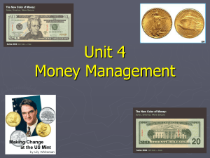 Unit 4 Money Management