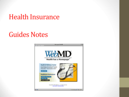 Health Insurance  Guides Notes