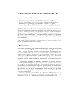 Bootstrapping Spearman's multivariate rho