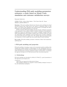 Understanding PLS path modeling parameters simulation and customer satisfaction surveys