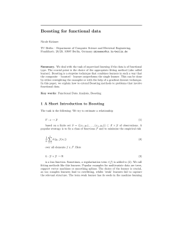 Boosting for functional data