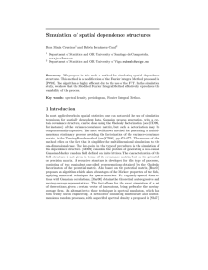 Simulation of spatial dependence structures