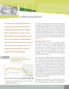 HOMEOWNERSHIP Low interest rates, stronger job growth, and