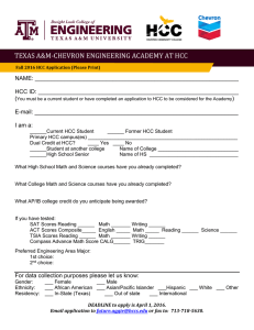 TEXAS A&M-CHEVRON ENGINEERING ACADEMY AT HCC