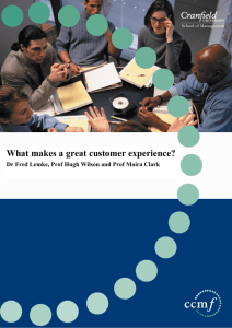 What makes a great customer experience?