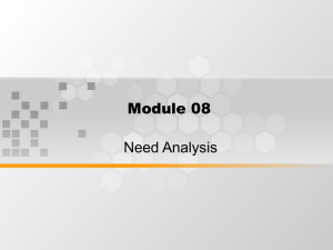 Module 08 Need Analysis